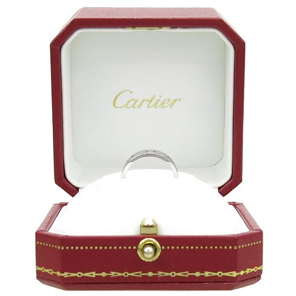 Cartier(까르띠에) B4085148 18K 화이트 골드 미니 러브링 반지-8호 [강남본점]
