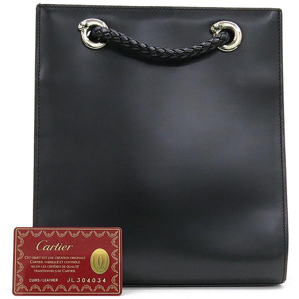 Cartier(까르띠에) 블랙레더 팬더 라인 위빙스트랩 미니 백팩 [강남본점]
