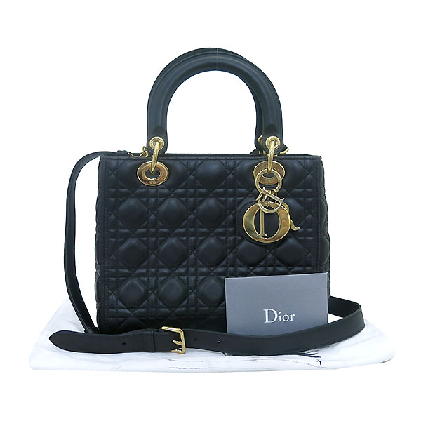 Dior(크리스챤디올) CAL44550 블랙 까나쥬 램스킨 LADY DIOR(레이디 디올) 2WAY [부산센텀본점]