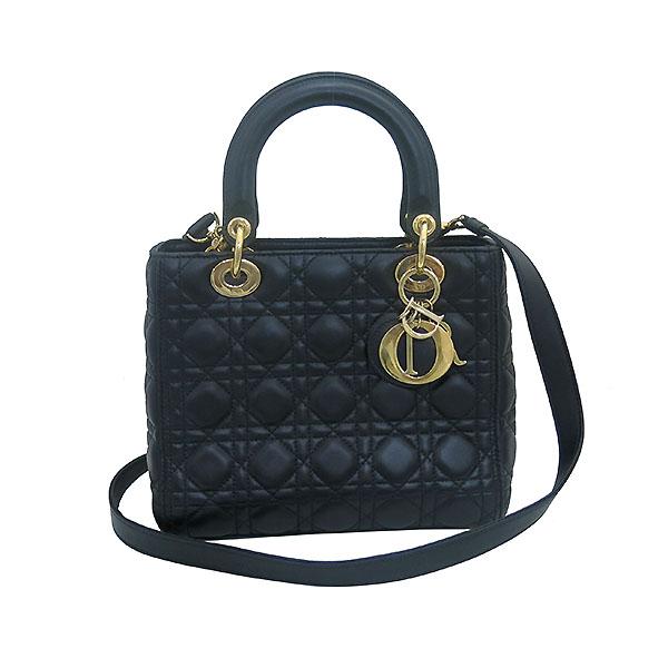 Dior(크리스챤디올) CAL44550 블랙 까나쥬 램스킨 LADY DIOR(레이디 디올) 2WAY [부산센텀본점] 이미지2 - 고이비토 중고명품