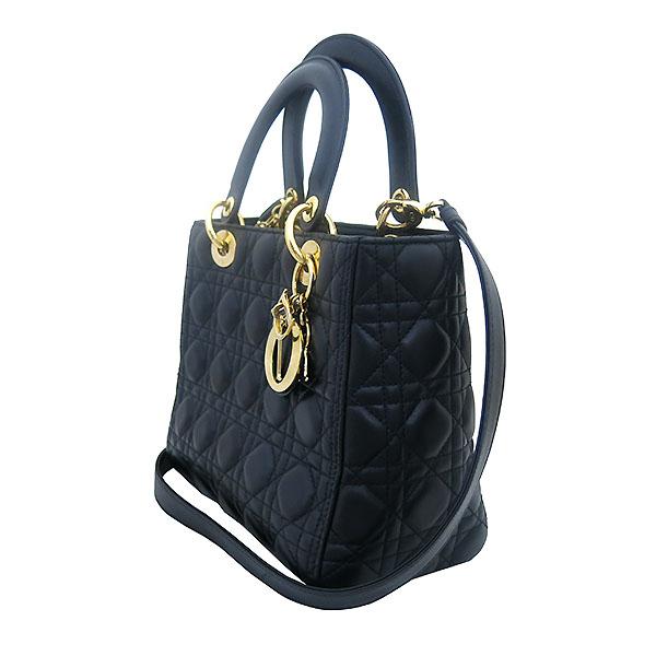 Dior(크리스챤디올) CAL44550 블랙 까나쥬 램스킨 LADY DIOR(레이디 디올) 2WAY [부산센텀본점] 이미지3 - 고이비토 중고명품