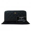Chanel(샤넬) 금장 COCO로고 장식 클래식 램스킨 퀼팅 집업 장지갑 [대구동성로점]