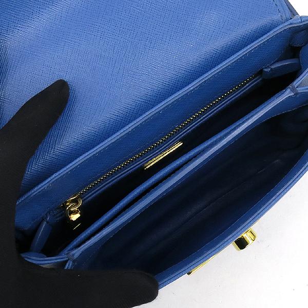 Prada(프라다) BT0963 블루 컬러 금장 락장식 사피아노 토트겸 크로스백 [강남본점] 이미지5 - 고이비토 중고명품