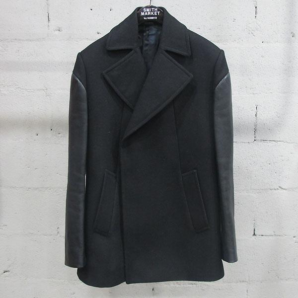 GIVENCHY(지방시) BT907 GV01 울 혼방 가죽 블랙 컬러 남성용 코트 [동대문점]