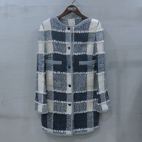 THOM BROWNE(톰브라운) 모 혼방 패치 여성용 코트 [부산센텀본점]