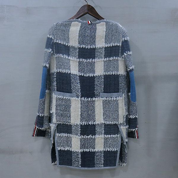 THOM BROWNE(톰브라운) 모 혼방 패치 여성용 코트 [부산센텀본점] 이미지3 - 고이비토 중고명품