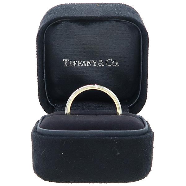 Tiffany(티파니) PT950(플래티늄) + 18K 옐로우골드 콤비 밀그레인 3MM 반지 - 23호 [강남본점]