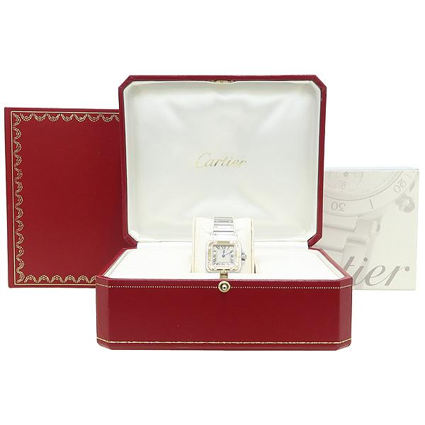 Cartier(까르띠에) W20012C4 18K 옐로우골드 콤비 스틸 산토스 갈베 쿼츠 S 사이즈 여성용시계 [강남본점]