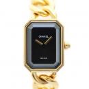 Chanel(샤넬) 프리미에르 M사이즈 18K 금통 체인 여성용 시계 (W)