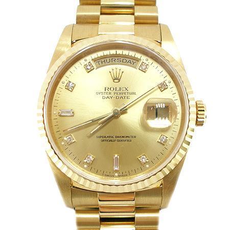 Rolex(로렉스) 18238 DAY-DATE 데이 데이트 18K금통 다이아 오토메틱 남성용시계 (W)