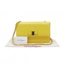 Ferragamo(페라가모) 21 E480 옐로우 컬러 사피아노 금장 바라장식 지니 체인 크로스백 [인천점]