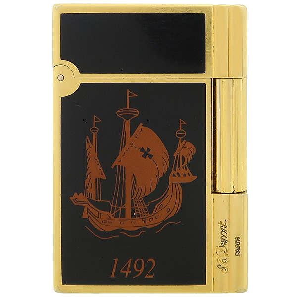 Dupont(듀퐁) 492 아메리칸 대륙 500주년 한정 금장 라이터 [강남본점]