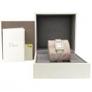 Dior(크리스챤디올) D78-109 은장 사각 프레임 자개판 가죽 밴드 여성 시계 [강남본점]
