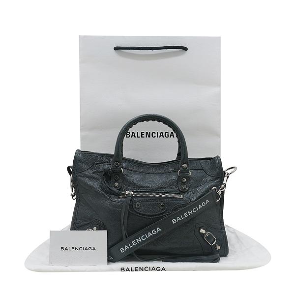 Balenciaga(발렌시아가) 431621 그레이 레더 클래식 시티 S사이즈 모터백 2WAY [인천점]