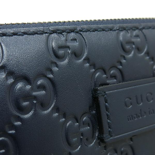Gucci(구찌) 406410 네이비 컬러 GG 시마 레더 슈프림 시그니처 남성용 크로스백 [인천점] 이미지4 - 고이비토 중고명품