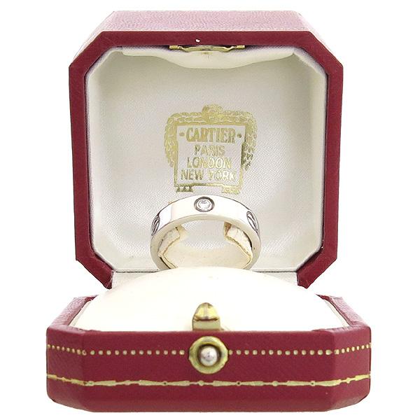 Cartier(까르띠에) B4032560 18K 화이트골드 Love ring 3 diamonds 3포인트 다이아 러브링 반지 - 20호 [강남본점]
