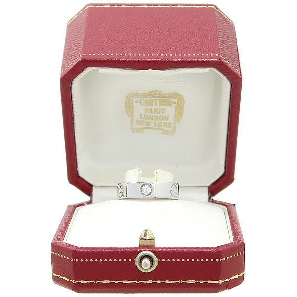 Cartier(까르띠에) B4032553 18K 화이트골드 Love ring 3 diamonds 3포인트 다이아 러브링 반지 - 13호 [강남본점]