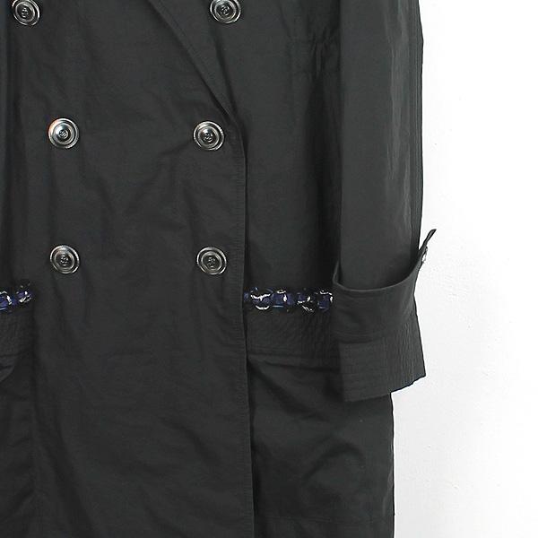 Chanel(샤넬) P48056V35925 블랙 컬러 폴리에스터 혼방 여성용 레인 코트 [강남본점] 이미지2 - 고이비토 중고명품