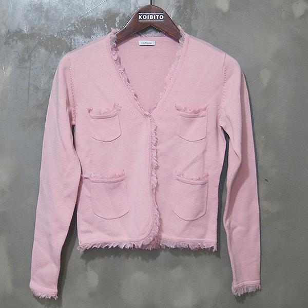 Cacharel(까사렐) 100% 울 핑크 컬러 여성용 가디건 [대구동성로점]