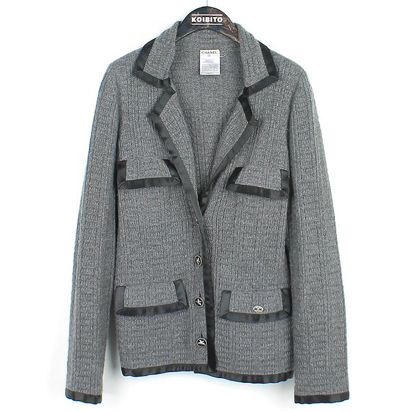 Chanel(샤넬) M5319 그레이 컬러 캐시미어 혼방 여성용 니트 자켓 [강남본점]