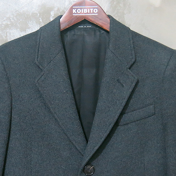 Armani(아르마니) 100% 캐시미어 챠콜 그레이 남성용 싱글 코트 [대구동성로점]