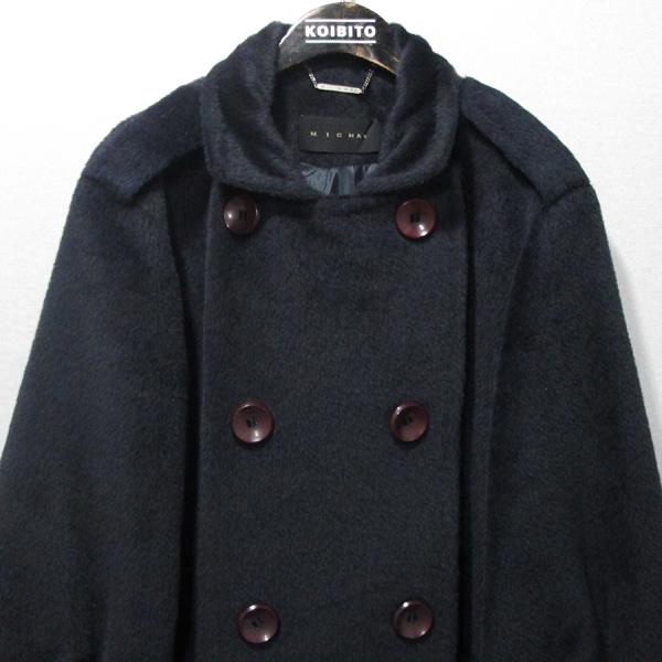MICHAA(미샤) 100% 라마  네이비 컬러 여성용 코트 [대구반월당본점] 이미지2 - 고이비토 중고명품