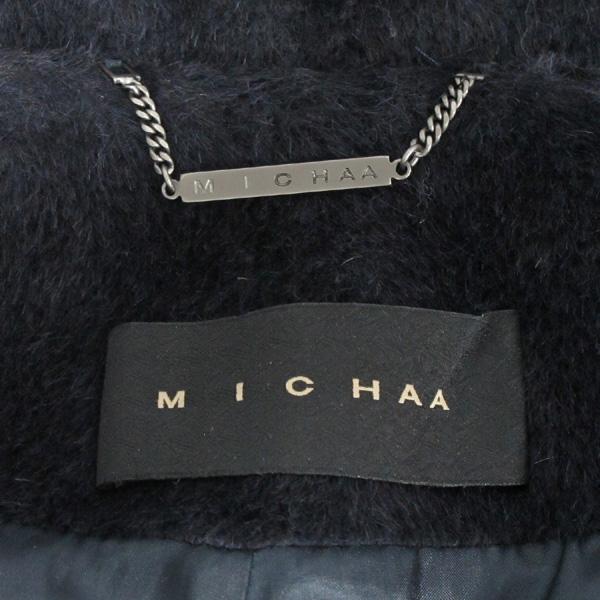 MICHAA(미샤) 100% 라마  네이비 컬러 여성용 코트 [대구반월당본점]