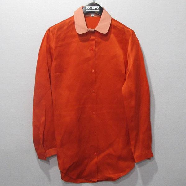 CARVEN(까르벵) 100% 실크 오렌지 컬러 여성용 브라우스 [대구반월당본점]