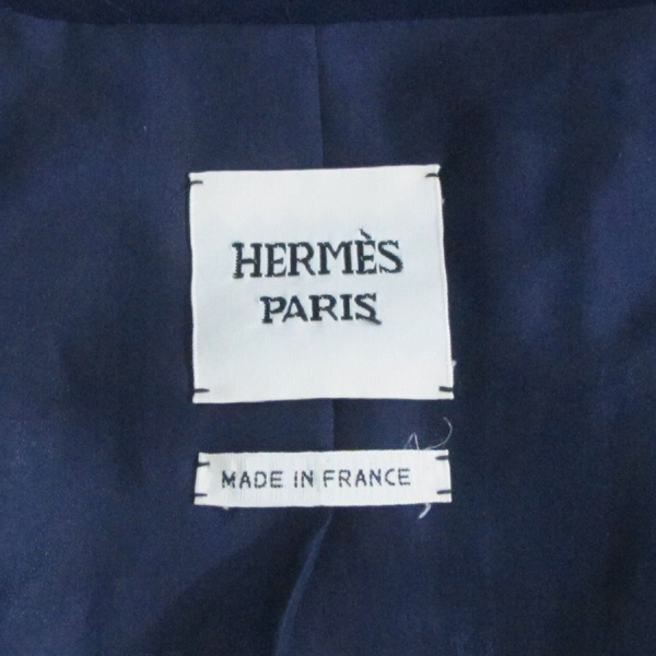 Hermes(에르메스) 비스코스 100% 네이비 컬러 원버튼 여성용 자켓 [대구반월당본점] 이미지4 - 고이비토 중고명품