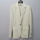 Hermes(에르메스) 린넨 100% 베이지 컬러 원버튼 여성용 자켓 [대구반월당본점]