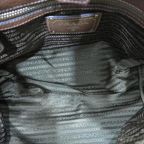 Prada(프라다) BN2623 TESSUTO(테수토) 패브릭 브라운 레더 트리밍 포코노 토트백 + 숄더스트랩 2WAY [인천점] 이미지5 - 고이비토 중고명품