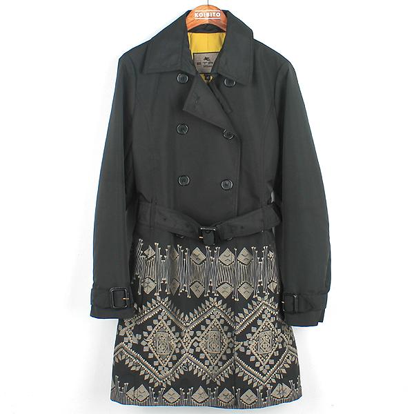 Etro(에트로) 블랙 컬러 폴리에스터 패턴 프린팅 여성용 레인 코트 [강남본점]