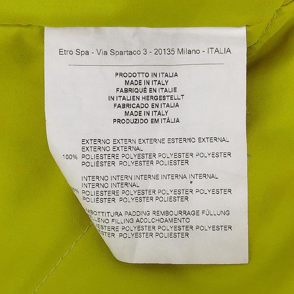 Etro(에트로) 블랙 컬러 폴리에스터 패턴 프린팅 여성용 레인 코트 [강남본점] 이미지4 - 고이비토 중고명품