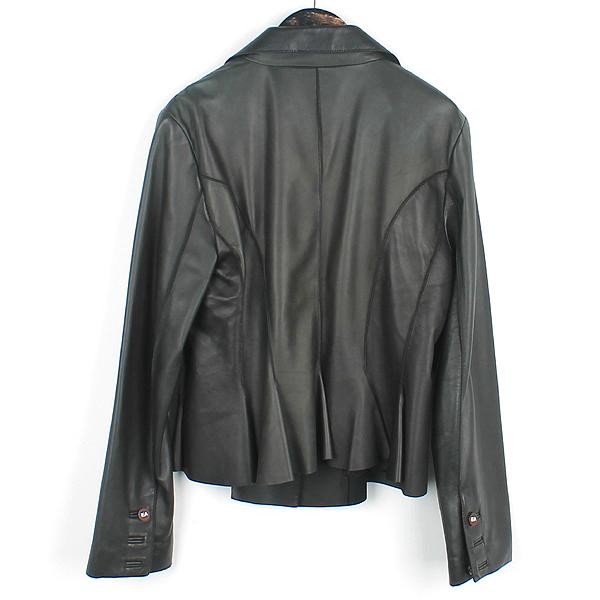 Armani(아르마니) 카키 컬러 카프  여성용 가죽 자켓 [강남본점] 이미지3 - 고이비토 중고명품