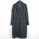 Armani(아르마니) 100% 울 블랙 컬러 여성용 롱 코트 [강남본점]