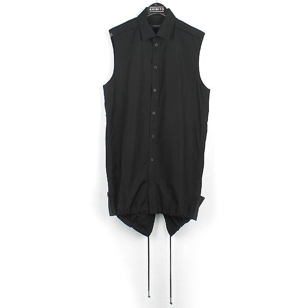 GIVENCHY(지방시) 블랙컬러 커튼 롱 베스트 숄더 놋 셔츠 [강남본점]