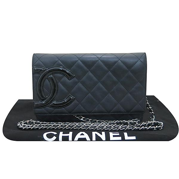 Chanel(샤넬) A466646 블랙 COCO 로고 깜봉 WOC (월릿 온 더 체인) 체인 클러치 겸 크로스백 [부산센텀본점]