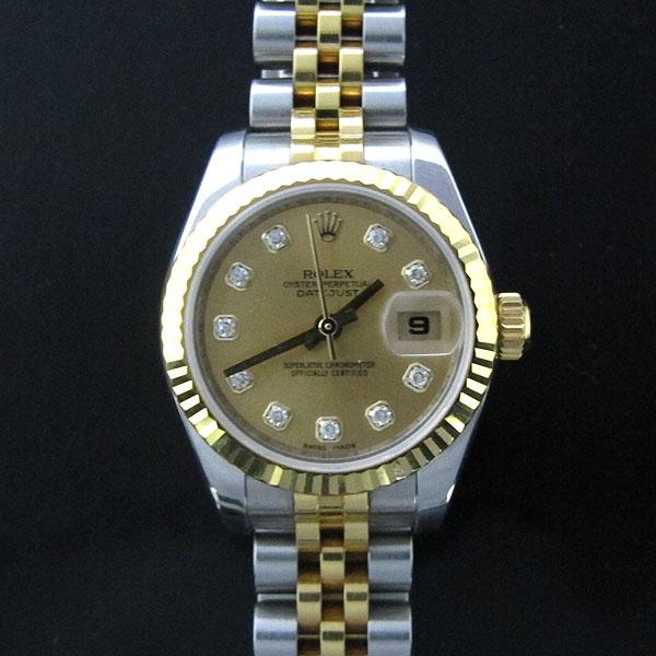Rolex(로렉스) 179173 18K 옐로우골드 콤비 10포인트 다이아 DATEJUST(데이저스트) 데이트 여성용 시계 [동대문점] 이미지2 - 고이비토 중고명품