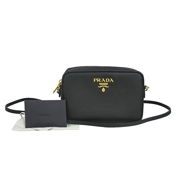Prada(프라다) 1BH036 블랙 컬러 SAFFIANO LUX (사피아노 럭스) 금장 로고 미니 크로스백 [동대문점]
