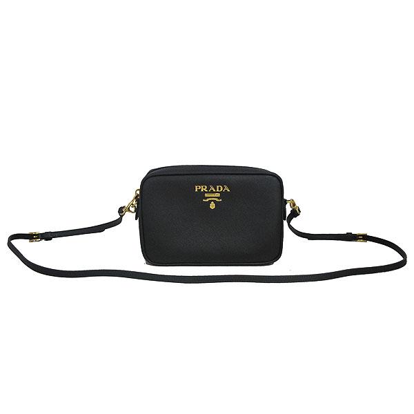 Prada(프라다) 1BH036 블랙 컬러 SAFFIANO LUX (사피아노 럭스) 금장 로고 미니 크로스백 [동대문점] 이미지2 - 고이비토 중고명품