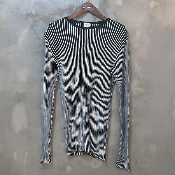 Armani(아르마니) 실크+코튼 혼방 골지 티셔츠 [대구동성로점]