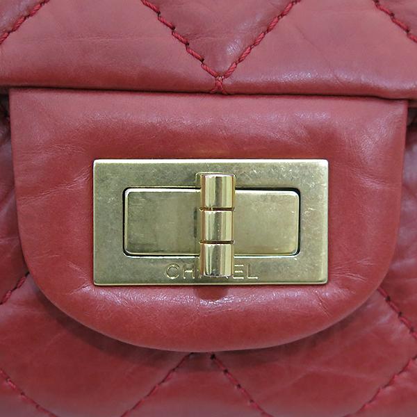 Chanel(샤넬) 2.55 빈티지 라지(L) 사이즈 레드 카프스킨 금장 체인 숄더백 [부산센텀본점] 이미지4 - 고이비토 중고명품