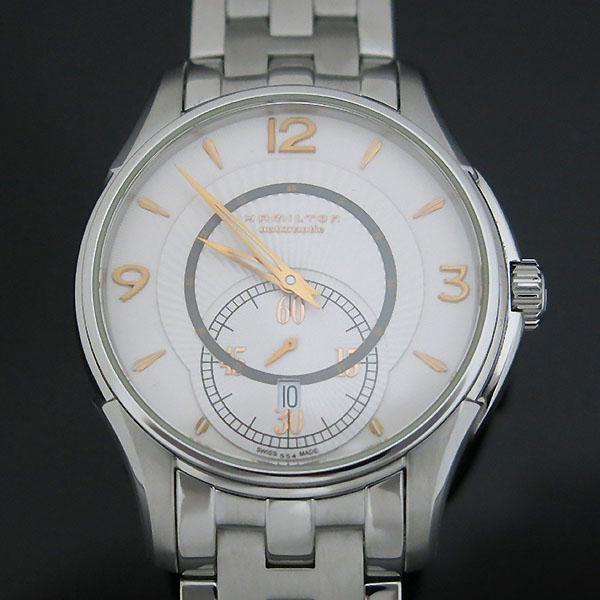 HAMILTON(해밀턴) H325550 재즈마스터 화이트 다이얼 시스루백 스틸 오토매틱 남성용 시계 [대구동성로점]