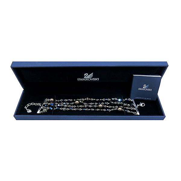 Swarovski(스와로브스키) 869793 진주 블루 크리스탈 장식 4줄 체인 팔찌 [부산센텀본점]