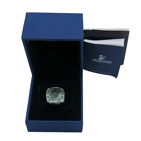 Swarovski(스와로브스키) 1035225 은장 인디콜라이트 쿠션컷 크리스탈 반지 - 15호 [부산센텀본점]