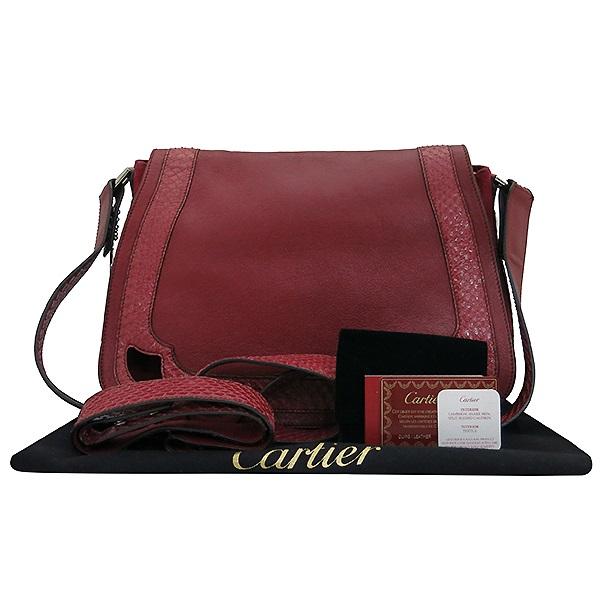 Cartier(까르띠에) L1001341 물뱀 램스킨 레더 라 베자스 마르첼로 드 까르띠에 M 숄더백 [부산센텀본점]