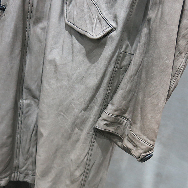 SISII(시씨) 카키 레더 롱 봄버 라쿤퍼 혼방 자켓 [인천점] 이미지2 - 고이비토 중고명품