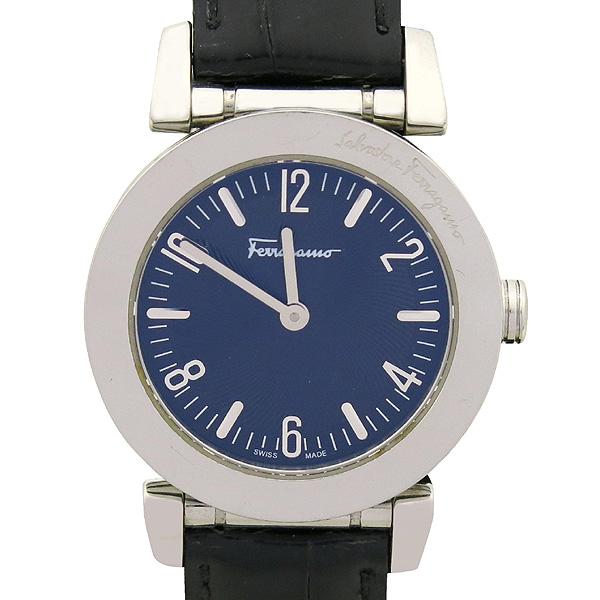 Ferragamo(페라가모) F50 FIRENZE 라운드 스틸 가죽 밴드 시계 [강남본점]