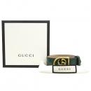 Gucci(구찌) 501931 더블 G 금장 로고 그린컬러 레더 팔찌 [강남본점]