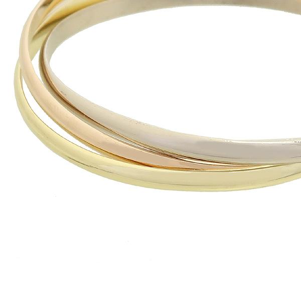 Cartier(까르띠에) B6013302 18K 화이트 골드, 18K 핑크 골드, 18K 옐로우 골드. 트리니티 미디움 팔찌 [강남본점] 이미지2 - 고이비토 중고명품